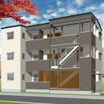 福岡市南区区 3階建てアパート 新築工事